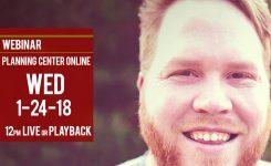 Chris Denning Webinar | Planning Center Online 1-24-18
