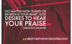 "🙌 #BeforeTheWorshipBegins   ""The Sound of Worship"""